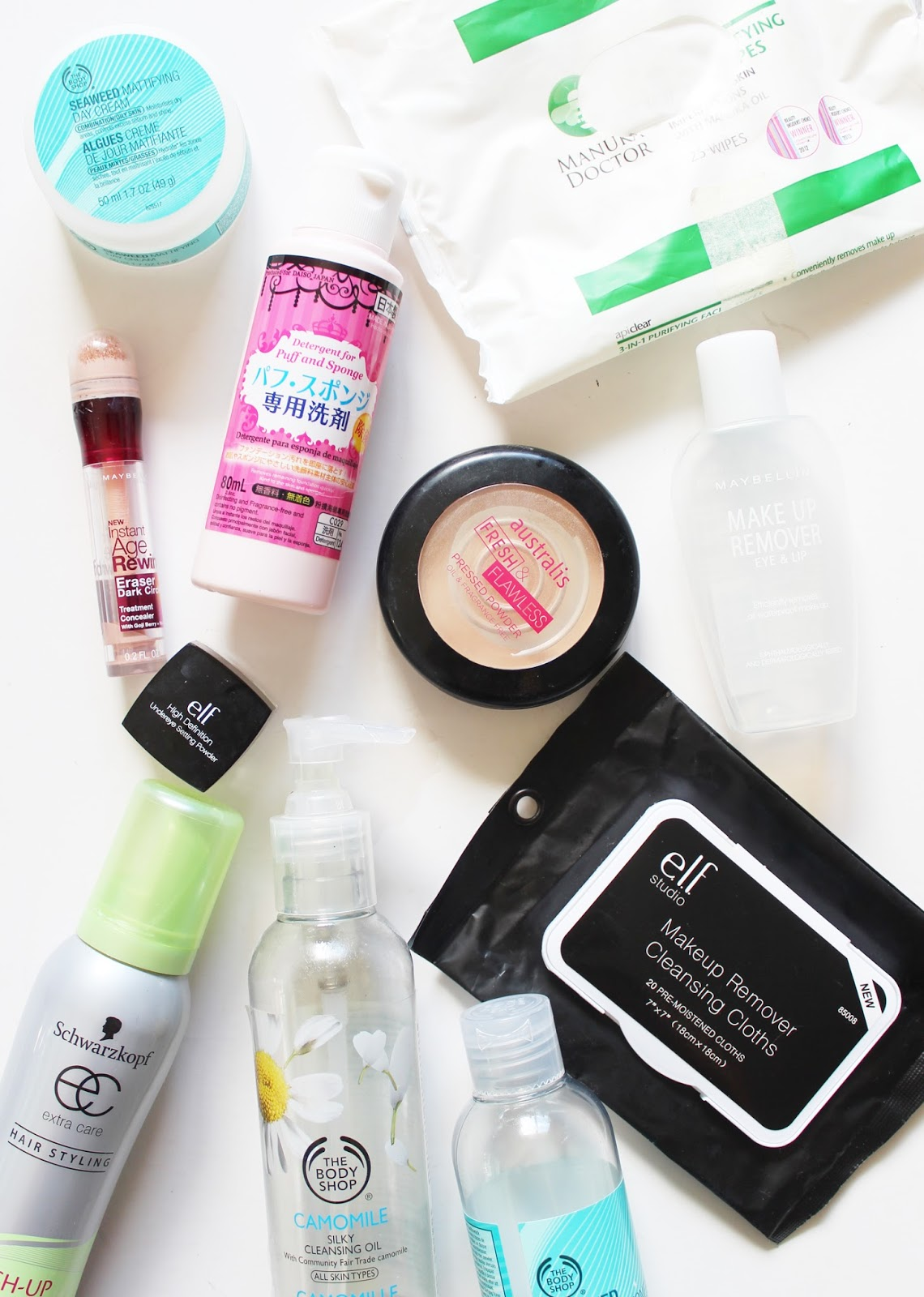 EMPTIES | October '15 - The Body Shop, Manuka Doctor, elf, Australis, Daiso, Maybelline, Schwarzkopf - CassandraMyee