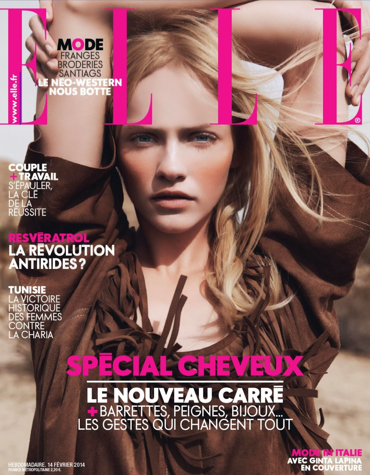 Ginta Lapina HQ Pictures Elle France Magazine Photoshoot February 2014