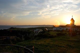 sun, church, sunset, peaceful, quiet, beautiful