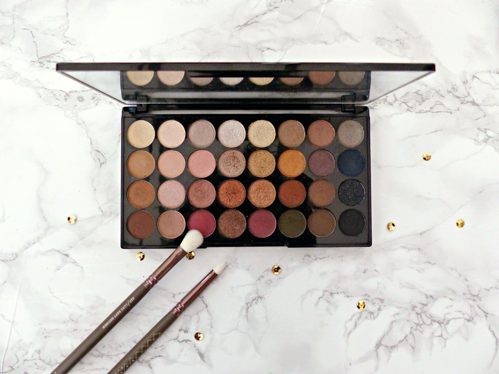 Review: Makeup Revolution Ultra 32 Shade Eyeshadow Palette in Flawless