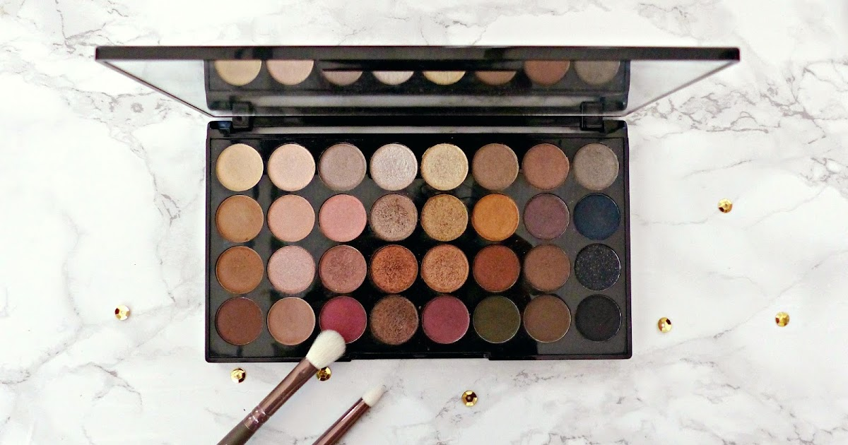 Review: Makeup Revolution Ultra 32 Shade Eyeshadow Palette in Flawless   Jasmine Talks Beauty