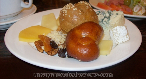 cheeses and breads at Seasons buffet Manila Pavilion Hotel