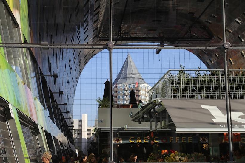Unter M Meeresspiegel Markthal Rotterdam