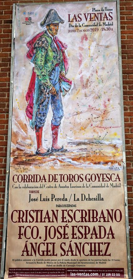 MADRID 02 MAYO 2019 CORRIDA DE TOROS GOYESCA.