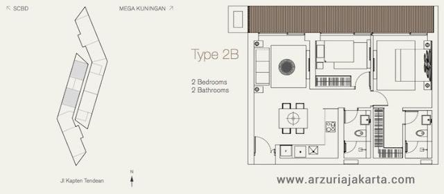 Tipe 2B Apartemen Arzuria Jakarta Selatan