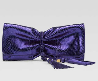 purple evening bag