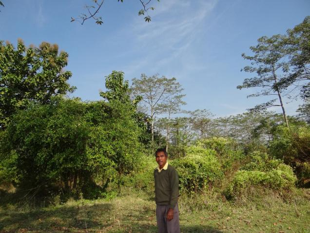 "Jadav ""Molai"" Payeng with his Molai Forest in the background"