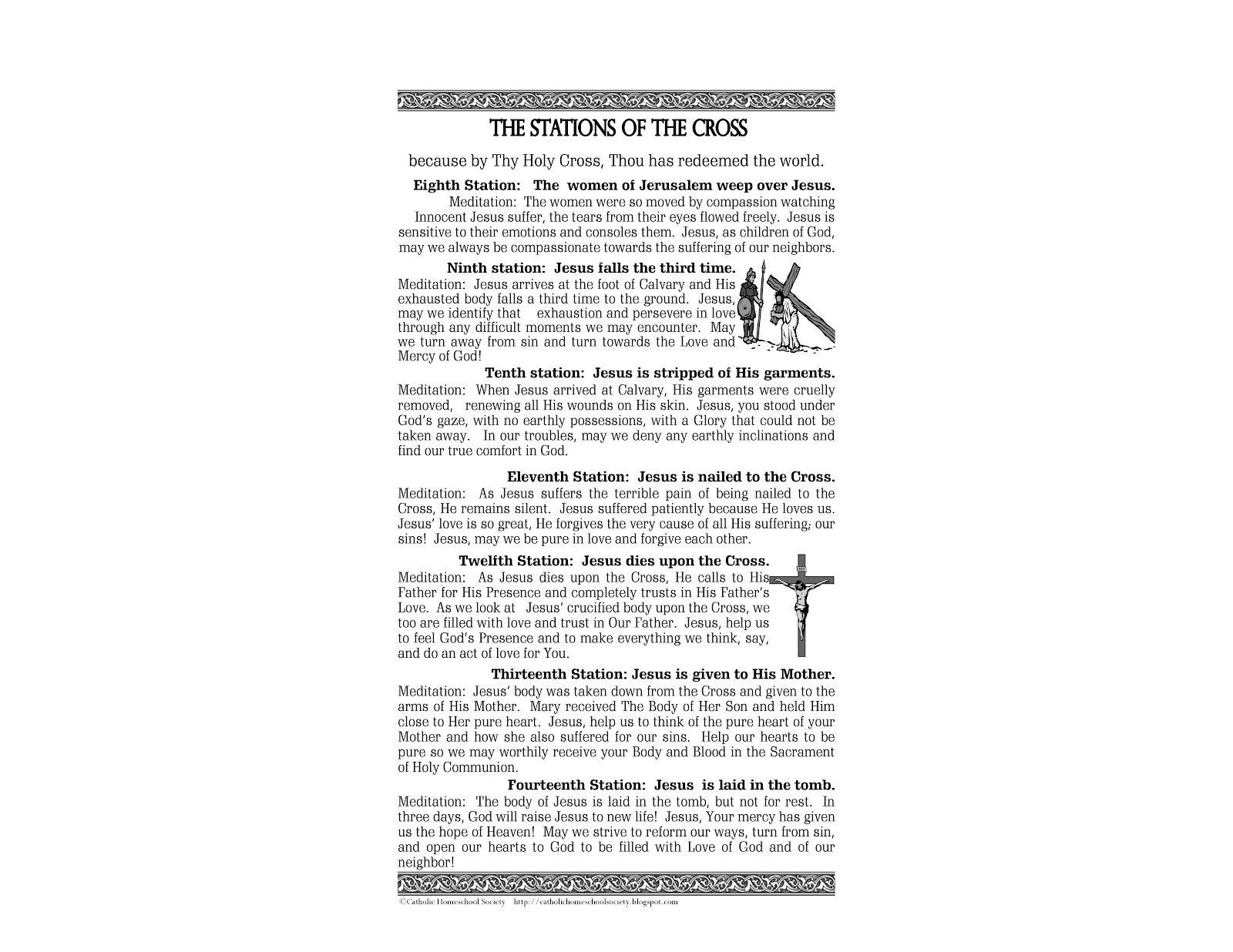 Terrible image within printable stations of the cross