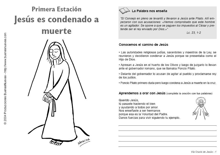EXCELENTE ACTIVIDAD PARA CUARESMA  V  A Crucis Para MEDITAR