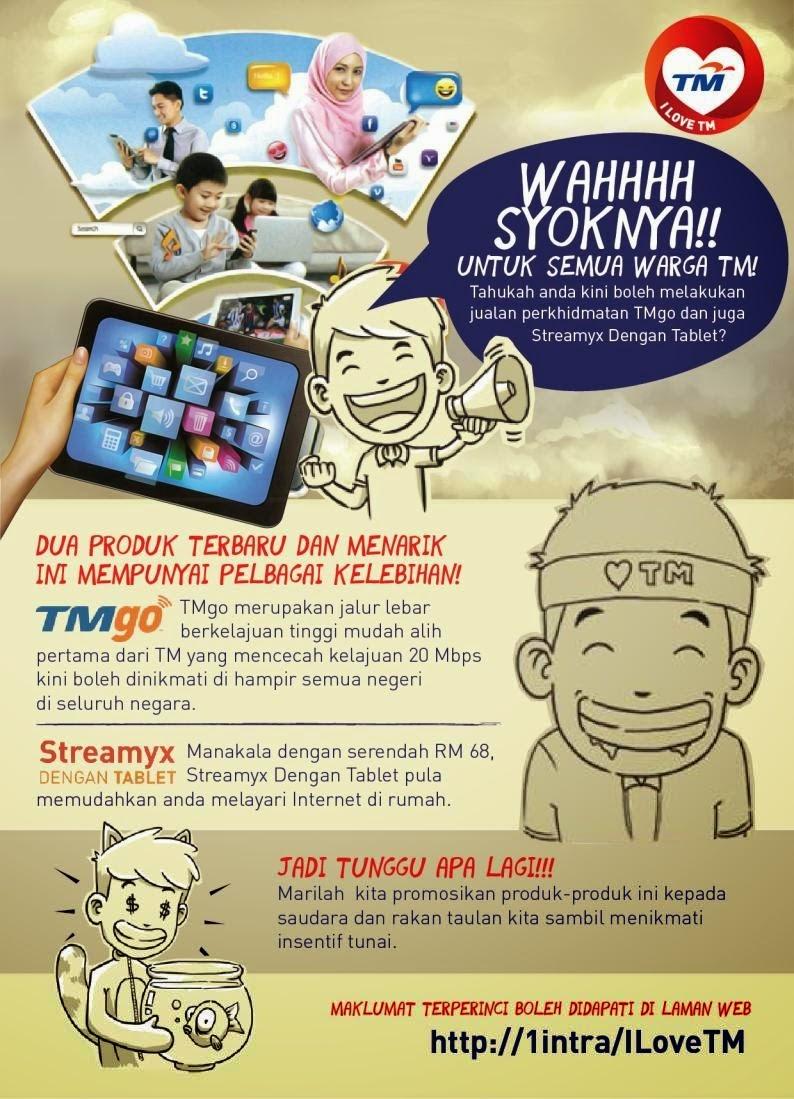 Perkhidmatan 'TMgo' dan 'Streamyx Dengan Tablet' Kini Boleh Dijual Di Bawah Program 'I Love TM'