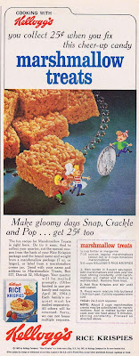 1963 recipe for Kellogg's Rice Krispie Marshmallow Treats