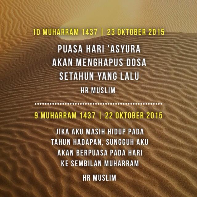 Tanggal 9-10 Muharram adalah Hari Tasu'a dan 'Asyura. Ayo Puasa ...