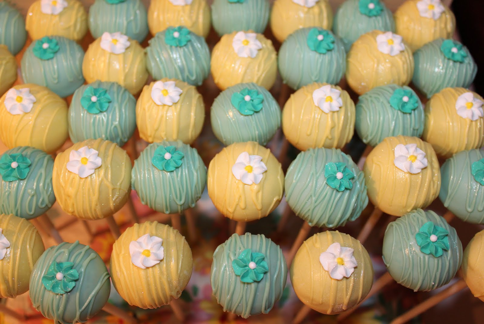 The Cake Bomb ~ Cake Pops For All Occasions: Turquoise & Yellow Cake ...