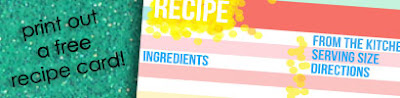 FREE! Printable Recipe Cards from Love the Grows