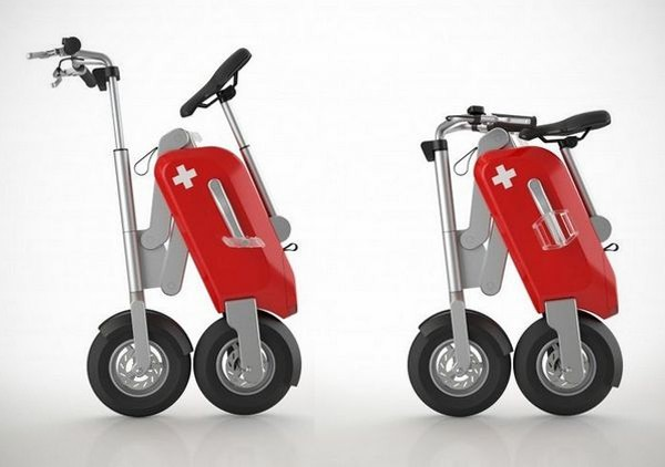 voltitude fold up electric scooter bonjourlife On fold up scooters motorized