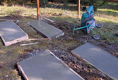 deer-proof garden fence, pads for horse trough planting beds