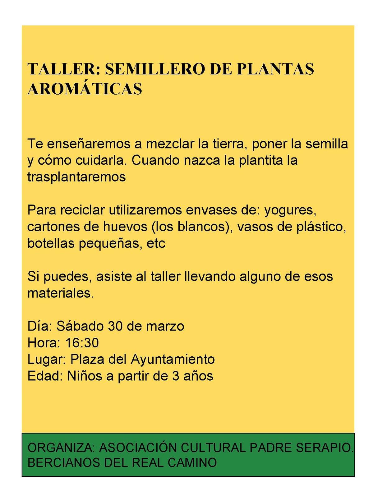 Asociaci n cultural padre serapio bercianos del real for Asociacion de plantas aromaticas