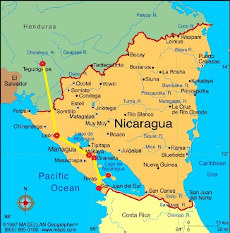 Nicaragua Route Map