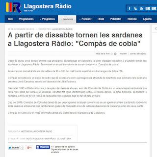 Compàs de Cobla a Llagostera Ràdio