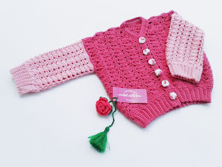 crochet baby sweater, crochet baby jacket, jaket rajut, sweater rajut, sweater bayi, sweater rajut bayi, rajutmerajut