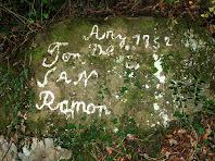 Pintada identificadora de la Font de Sant Ramon