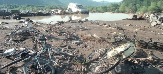 Inundación del Camping de Biescas