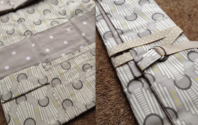 Diary of a Chainstitcher Art Deco Fabric Knitting Needle Roll Gift