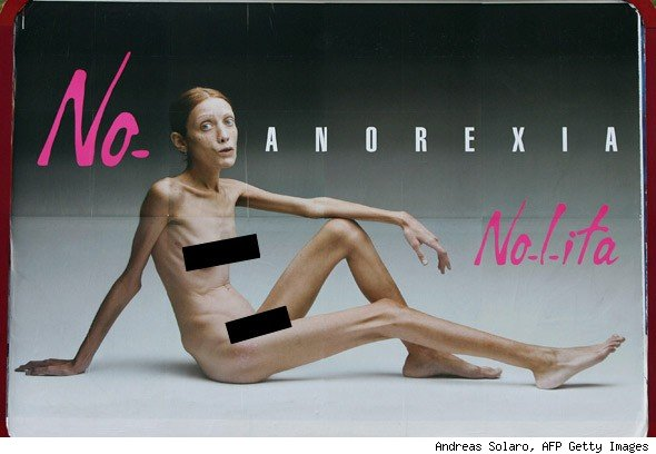 "She was the image of a ""no anorexia"" campaign.: unikorna.blogspot.com/2011/08/fashionably-starved.html"