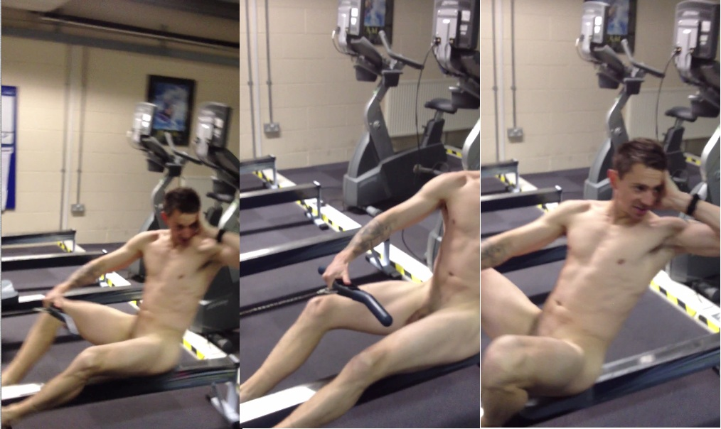 naked dude in the gym