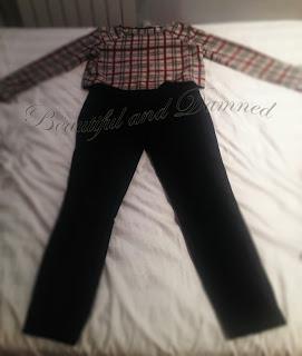 Pantalón pitillo y top de raso de Zara