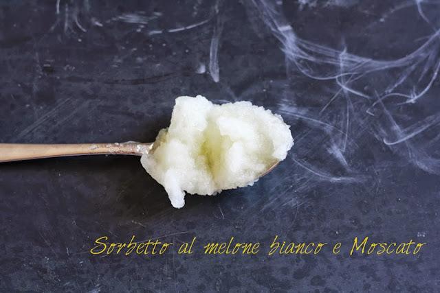 Sorbetto al melone bianco e vino Moscato