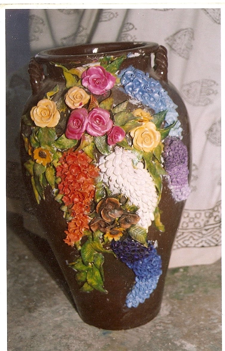 rose n wrap pot decoration