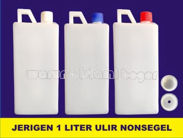 Jual Jerigen Plastik 1 Liter Tutup Ulir Non Segel
