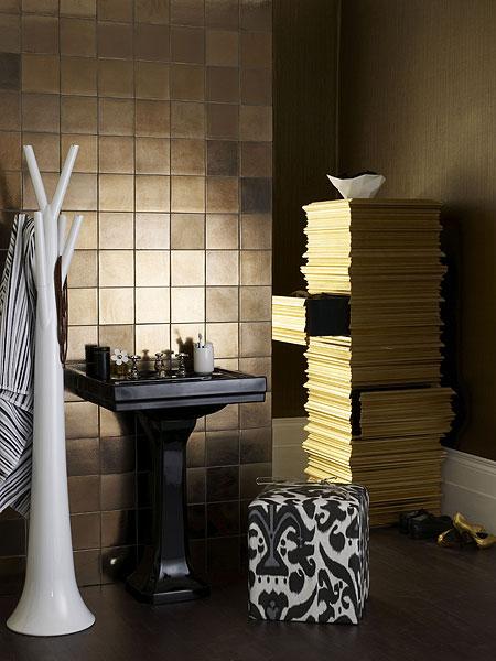 Half baths decorating ideas luxury designs 2013 for Black and gold bathroom ideas