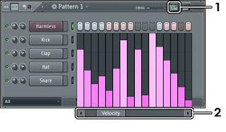 Manfaatkan note Velocity untuk atur suara nada