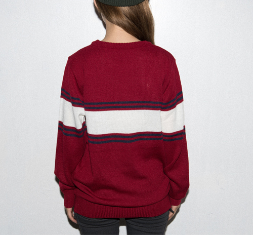 Strioe Panel Knit Sweater