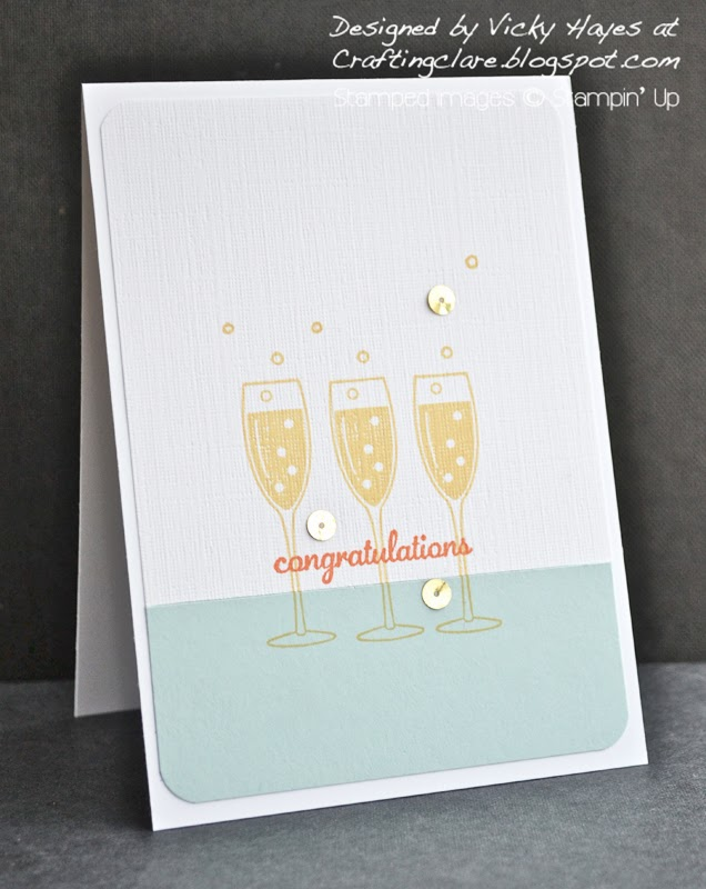 Celebration card using Embellished Events and sequins from Stampin' Up