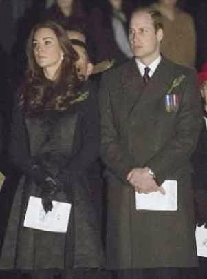 William and Kate Visit War Memorial