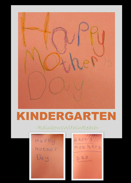 photo of: kindergarten writing for mom