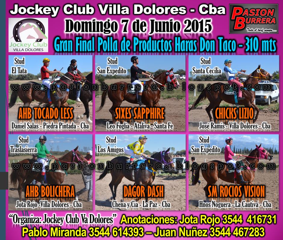 VILLA DOLORES - 7 JUNIO - FINAL POLLA