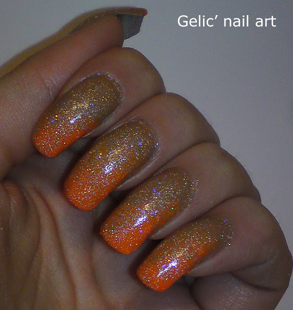 gelic' nail art gradient brown