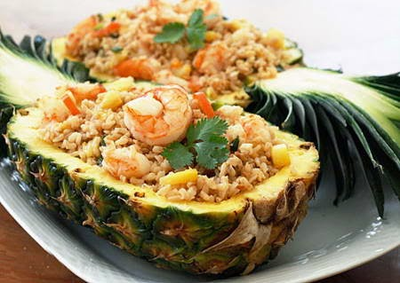 (Cơm Rang Dứa) - Fried Rice with Pineapple