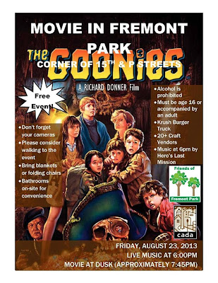Movie in the Park, August 23rd