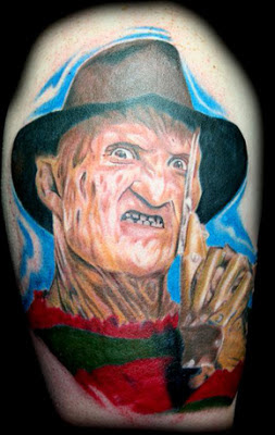 Tatuaje de Freddy Krueger