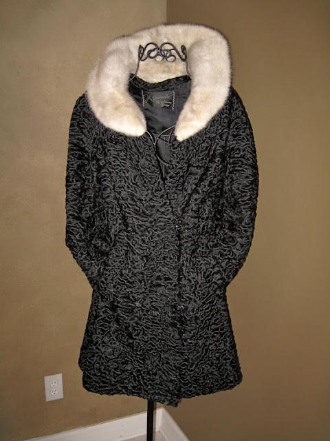 medium value black persian lamb fur coat