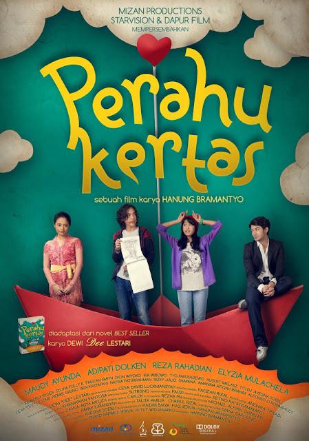 Perahu Kertas Film Drama Indonesia | Antara Pelukis dan Penulis