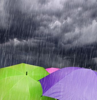 colourful umbrella rainy quotation wallpapers