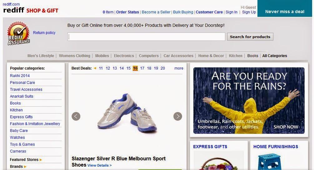 Rediff.com Online Shopping Review