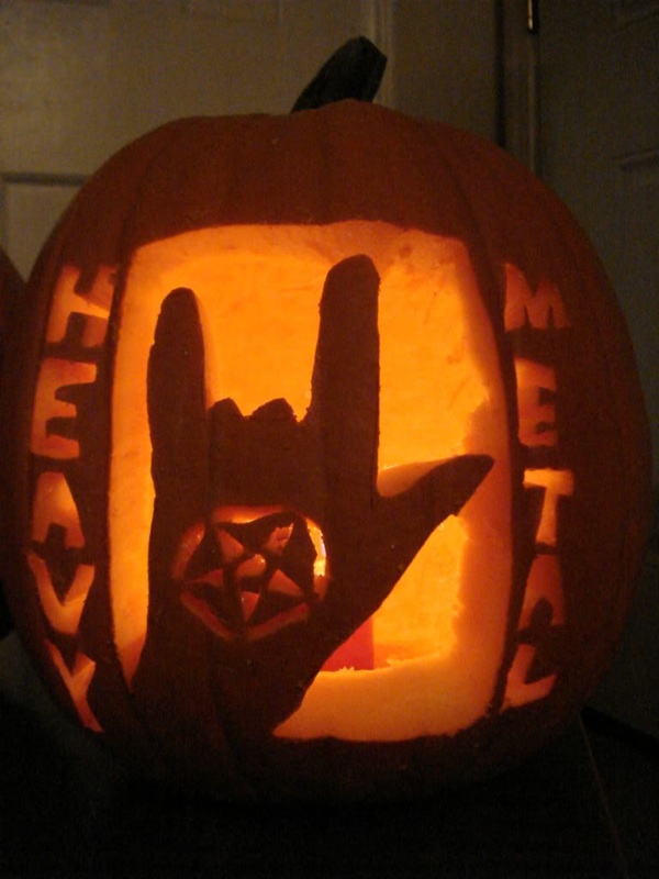 I have seen the whole of internet heavy metal pumpkin