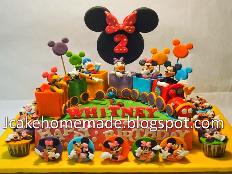 Jcakehomemade Mickey Mouse Clubhouse Birthday Cake